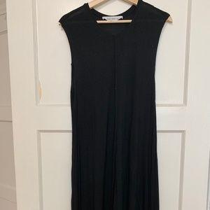 Derek Lam High-Low Midi Black Dress